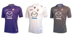 Fiorentina - Home, Away & 3rd Strips 2013-14.