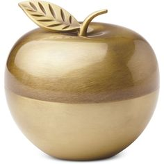 kate spade new york Zadie Drive Apple Covered Box (52 CAD) ❤ liked on Polyvore featuring home, home decor, brass, kate spade home decor, apple home decor, brass home decor and kate spade