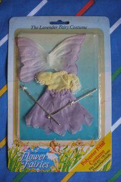 Vintage Hornby Flower Fairies LAVENDER purple costume dress