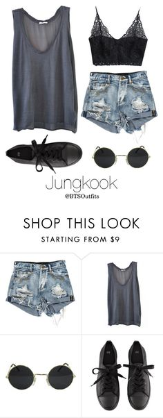 """Coachella Date with Jungkook"" by btsoutfits ❤ liked on Polyvore featuring American Vintage and H&M"