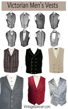 Victorian Men\'s Vests and Waistcoats