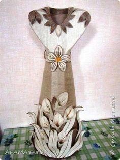 Поделка изделие Моделирование конструирование Напольная ваза Картон Шпагат фото 1