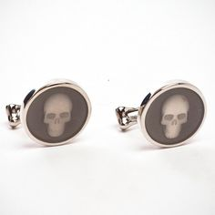 Glass Skull Cufflinks by Alexander McQueen - got these for my man for our wedding day :)