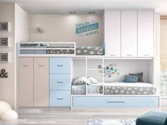 20 cool bunk beds for the coolest siblings of all time - Home and Garden Decoration Bunk Beds With Storage, Cool Bunk Beds, Kids Bunk Beds, Kids Furniture, Bedroom Furniture, Bedroom Decor, Furniture Design, Small Rooms, Small Spaces