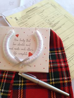 Sign the marriage schedule with the special ink in the pen