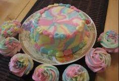 Pastel swirl cakes ♡