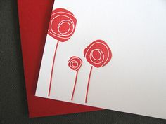 paper cut rose card.