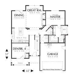 Image for Wellborn-2 Level Split Bedroom Plan-Main Floor Plan