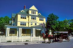 Mackinac Island - One of the most popular tourist spots in Michigan.