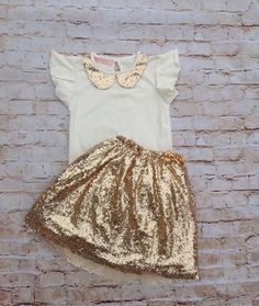 Ivory Gold Sequin Girls Dress, Flower Girl Dress, Pageant Dress, Princess Dress, Vintage Dress, Sparkly Dress, Sequin Dress, Birthday Dress by AvaMadisonBoutique on Etsy https://www.etsy.com/listing/214643815/ivory-gold-sequin-girls-dress-flower
