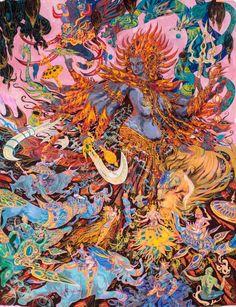 Deuses indianos sob o olhar de um artista contemporâneo