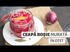 Cum se face cea mai bună ceapă roșie murată în oțet. Ce condimente se folosesc, cum se păstrează și la ce mâncăruri o servim. Recipies, Food And Drink, Vegetables, Mai, Erika, Youtube, Canning, Fine Dining, Recipe