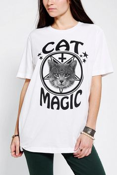 Urban Outfitters - Killer Condo Cat Magic Oversized Tee