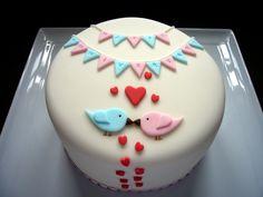 Anniversary Cakes - Two birds anniversary cake