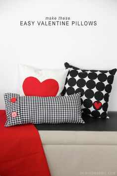 Easy Valentine Plaid   Heart Pillow DIY