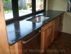 Soapstone Wood And Stone Floor (laminate?) Kitchen Colors