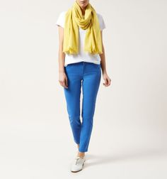 Yellow Kim Scarf   Scarves and Gloves   Accessories   Hobbs