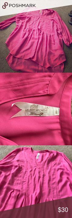 Melissa McCarthy pink blouse Melissa McCarthy pink blouse. NO TRADES Melissa McCarthy Tops Blouses