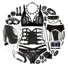 """""""Sexy girl"""" by carolinedarcy ❤ liked on Polyvore featuring Honeydew Intimates, Dorothy Perkins, Kat Von D, Smashbox, Bling Jewelry, Clinique, Lancôme, Jeffrey Campbell, Fleet Ilya and Express"""