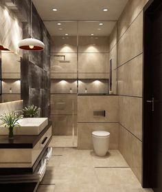 Toilet And Bathroom Design, Small Toilet Design, Washroom Design, Bathroom Vanity Designs, Bathroom Design Luxury, Bathroom Layout, Modern Toilet Design, Small Luxury Bathrooms, Washbasin Design