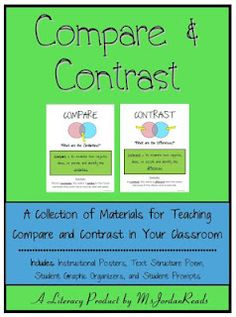 Non-fiction text structures posters and ideas
