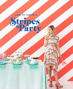 [On lit] How to throw a stripes party - Oh happy day Diy Party Decorations, Party Themes, Party Ideas, Theme Parties, Happy Party, Bridal Shower Party, Party Kit, Party Entertainment, Summer Parties