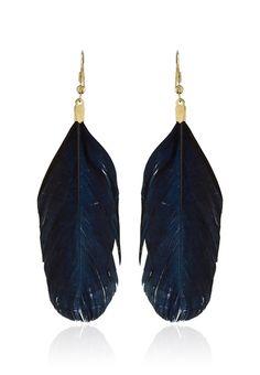 Black Feather Earrings
