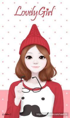syafiqah enakei ❤ в 2019 г. art girl, cute wallpapers и cute girls. Cartoon Girl Images, Cute Cartoon Girl, Cartoon Art, Cute Girl Wallpaper, Pink Wallpaper Iphone, Girls In Love, Cute Girls, Korean Illustration, Lovely Girl Image