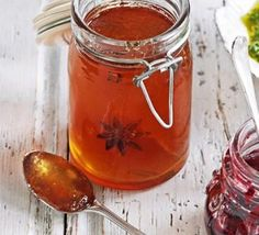 Winter spice jelly.  Love the spice mix in this recipe!  ~M