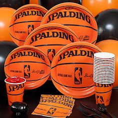 Our Spalding Basketball Party Pack has place settings for eighteen. Save up to when ordering our party pack instead of ordering separately! Basketball Baby Shower, Basketball Birthday Parties, Sports Birthday, 10th Birthday Parties, Sports Party, Birthday Party Themes, Basketball Hoop, Birthday Ideas, Xavier Basketball