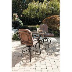 Mainstays Wentworth 3-Piece High Outdoor Bistro Set, Seats 2: Patio Furniture : Walmart.com. $249