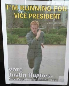 Running for student council wasn't optional, it was your moral duty.