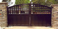 Iron gates- craftsmen style for side yard