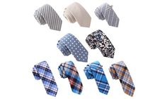 Skinny Tie Madness Bundle of 9 Skinny Ties and 2 Tie Clips (11 Piece) $54.99(79% off) Exp:Oct/20/2015
