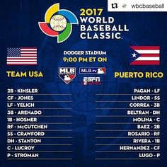 """35.7k Likes, 555 Comments - MLB ⚾ (@mlb) on Instagram: """"Team USA vs Puerto Rico. Which country will walk away with its first World Baseball Classic title?…"""""""