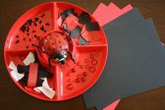 Ladybug Art Activity...simple ladybug-inspired invitation to create.