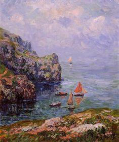 Henri Moret - Misty Weather, Brizellec Finistere 1911