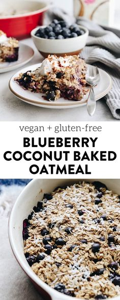 Change up your breakfast game with this Blueberry Coconut Baked Oatmeal. An easy, vegan, breakfast option that you can bake ahead of time for weekday breakfasts or fresh for a fancy weekend brunch. Healthy Breakfasts, Healthy Breakfast Recipes, Healthy Meals, Healthy Food, Yummy Food, Healthy Recipes, Vegan Oatmeal, Baked Oatmeal, The Healthy Maven