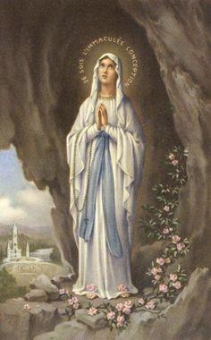 Sainte personnage Sainte Mère de Dieu Madonna LOURDES HAUTEUR ENVIRON 40,3 cm