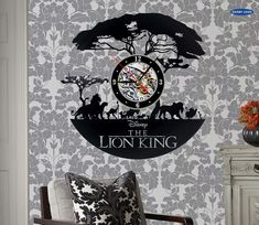 Buy The Lion King_Best Wall Wall Clock Made Of Vinyl Record,wall clock saat alarm clock reloj large Vinyl Record Clock, Record Wall, Vinyl Records, Lion King Room, Family Tree Wall Sticker, Disney Furniture, Best Wall Clocks, How To Make Wall Clock, Le Roi Lion