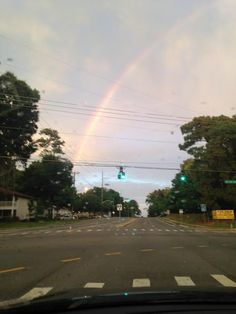 Day 160 (6/9). Mikey and Grandma Stell came to visit today. We saw a rainbow on the way home from dinner.