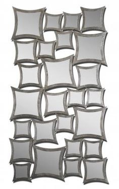 decorative wall mirrors modern rigel silver leaf mirror numerous separately framed mirrors all attached to create one large 21 best unique decorative wall mirrors images on pinterest