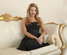 Lydia Bright. Bella Sorella Boutique. Black strapless floor length