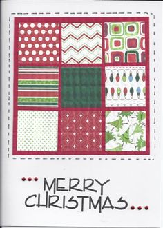 Christmas Quilt by Stampin'Bodz - Cards and Paper Crafts at Splitcoaststampers