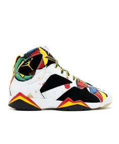 a8c1344ebc65f8 Air Jordan 7 Retro Oc Miro Olympic White Sport Red Blck Mtllc Gld 323213  161 Womens