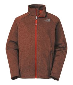 Great for family expeditions on crisp spring days the Canyonlands Full Zip jacket adds warmth without the bulk and vents easily. It is crafted of stretch hardface fleece with a brushed back allowing it to slide over baselayers or provide next-to-skin comfort.