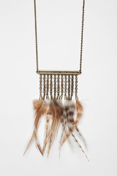 Aleph by A Peace Treaty Feather Necklace $39