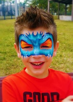Face painting mask Dinosaur Face Painting, Superhero Face Painting, Monster Face Painting, Dragon Face Painting, Face Painting For Boys, Face Painting Designs, Body Painting, Animal Face Paintings, Animal Faces