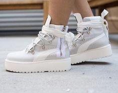 fcf34e2f0a2e Rihanna x Puma Fenty Boot White  Fenty X  Puma by  Rihanna  Fashion   Footwear  Sneakers  Apparel  Style  Shoes  FentyXPuma  GetTheLook