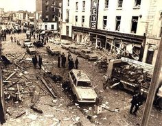 """""""Loyalist terrorists in collaboration with Britain detonated bombs in Dublin and Monaghan 45 years ago today. 34 people were killed and more than 300 were left injured. No one has ever been brought to justice. Old Pictures, Old Photos, Ireland Pictures, Iconic Photos, Civil Rights March, Northern Ireland Troubles, British Government, Dublin City, Republic Of Ireland"""